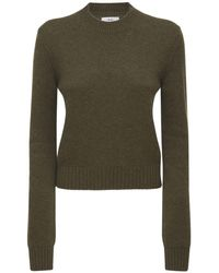 AG Jeans Cashmere Round Neck Jumper - Green