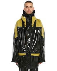 Maison Margiela フーデッドコーテッドジャージージャケット - ブラック