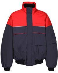 Balenciaga ナイロンスキーボンバージャケット - ブルー