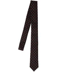 DSquared² Cravatta In Seta Jacquard - Nero