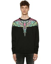 Marcelo Burlon Wings Wool Blend Knit Sweater - Schwarz