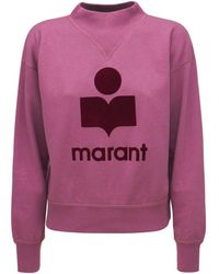 "Étoile Isabel Marant Sweatshirt Aus Jersey ""moby Mock"" - Lila"
