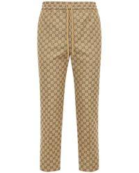 Gucci Jogginghose Aus Baumwollmischcanvas - Natur
