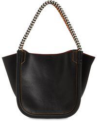 Proenza Schouler Xs Superlux Leather Tote Bag - Black