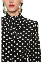 Dolce & Gabbana Рубашка Из Шёлкового Крепдешина В Горошек - Черный