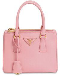 """Prada Mini Tasche Aus Saffianoleder """"galleria"""" - Pink"""