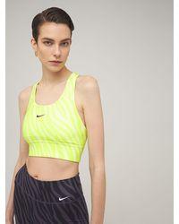 Nike Sport-bh Mit Mittlerer Stüztung - Gelb