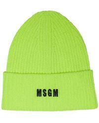 MSGM ニットビーニー - グリーン