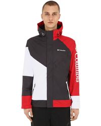 Columbia Windell Park Waterproof Nylon Jacket - Red