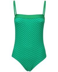 Eres Mocassin Textured One Piece Swimsuit - Green