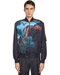 Valentino Dragon ナイロンボンバージャケット - ブルー