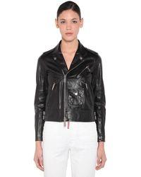 DSquared² Leather Biker Jacket - Black
