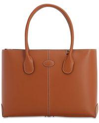 Tod's Leather Tote Bag - Braun