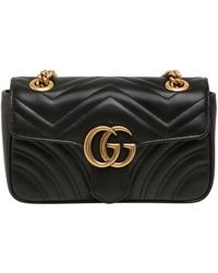Gucci - Mini Gg Marmont 2.0 Quilted Leather Bag - Lyst