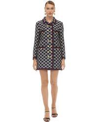 Gucci Gg Cotton Blend Tweed Coat - Multicolour