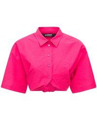"Jacquemus Hemd Aus Popeline ""la Chemise Ballu"" - Pink"