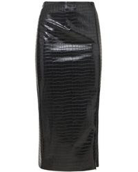 ROTATE BIRGER CHRISTENSEN Leeds 人工レザーペンシルスカート - ブラック