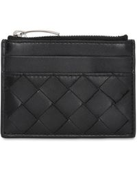 Bottega Veneta - Intrecciato Leather Card Holder - Lyst
