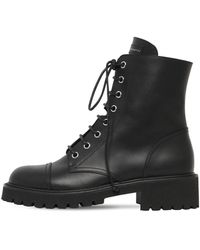 Giuseppe Zanotti 25mm Leather Combat Boots - Black