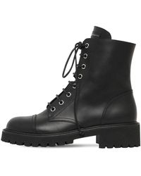 Giuseppe Zanotti 25mm Leather Combat Boots - Black