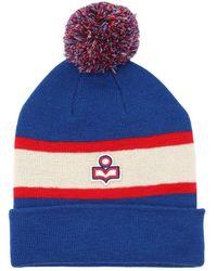 Étoile Isabel Marant - Logo Two Tone Wool Knit Hat - Lyst