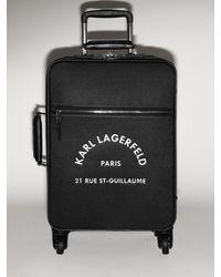 Karl Lagerfeld Trolley Mit Kunstleder Und Logodruck - Schwarz