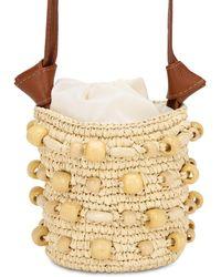 Sensi Studio Mini Straw Bucket Bag - Natural