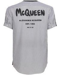 Alexander McQueen - Хлопковая Футболка Graffiti - Lyst