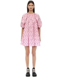 Cecile Bahnsen Arina Embroidered Nylon Dress - Pink