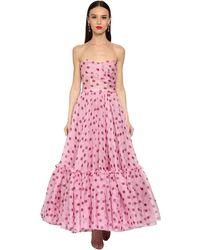 Dolce & Gabbana オーガンザミディドレス - ピンク