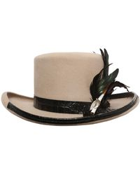 Move - Fur Felt Hat W/ Cigarette Holder - Lyst