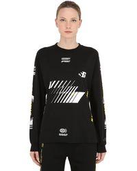 Still Good Vision Long Sleeve Cotton Jersey T-shirt - Black