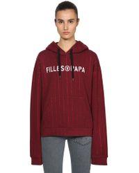 Filles A Papa Sweatshirt - Red