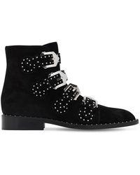 Givenchy Elegant Ankle Boots Aus Leder Mit Nieten - Schwarz