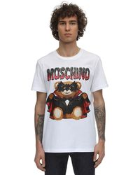 Moschino - Teddy Bearプリントコットンtシャツ - Lyst