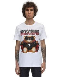 Moschino Dracula Teddy Print T-shirt - White