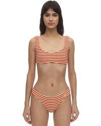 Solid & Striped Elle ライクラビキニトップ - オレンジ