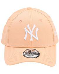 KTZ Ny Embroidery Cotton Baseball Cap - Pink