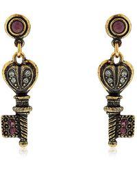Alcozer & J - Agata Key Earrings - Lyst