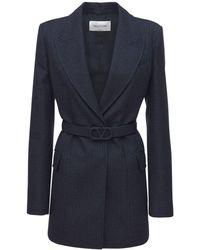 Valentino ウールジャケット - ブルー