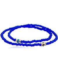 Luis Morais - Sapphire Barrel Double Wrap Bracelet - Lyst