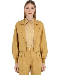 Nina Ricci Cotton Gabardine Jacket - Natural
