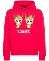 DSquared² Year Of The Ox コットンジャージーフーディー - レッド