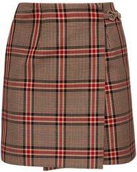 ROKH Check Cotton Blend Mini Skirt - Multicolor