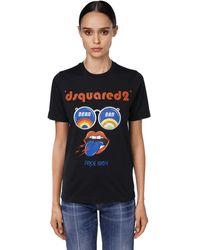 DSquared² Pride Print Cotton Jersey T-shirt - Black