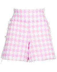 Balmain Minishorts Aus Tweed - Pink