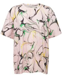Stella McCartney Marble コットンtシャツ - グレー