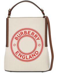 Burberry Peggy コットンキャンバスバケットバッグ - ナチュラル
