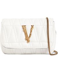 Versace - Virtus レザーショルダーバッグ - Lyst