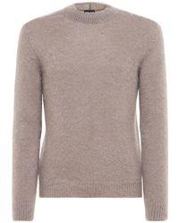 Giorgio Armani - Mohair Blend Knit Sweater - Lyst